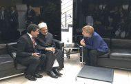 Al-Azhar's grand imam meets Germany's Merkel, condemns treatment of Rohingya in Myanmar