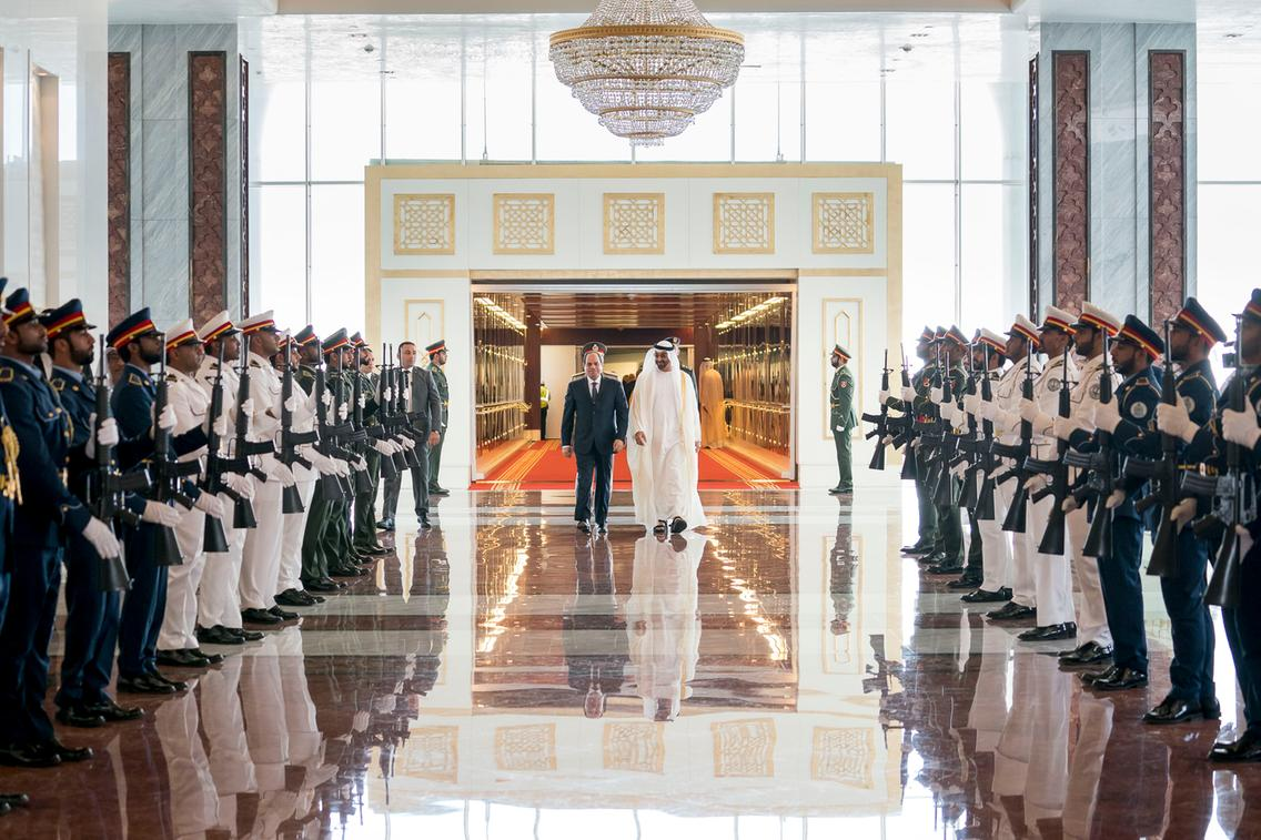 Al-Sisi meets with Sheikh Mohammed bin Zayed in Abu Dhabi