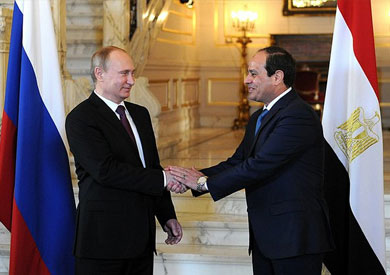 Al Sisi,Putin signed Aldabba nuclear agreement and exchanged addresses at a press conference