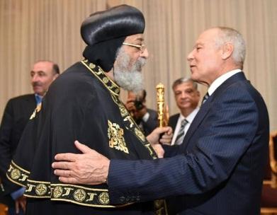 AL chief greets Pope Tawadros II on Christmas