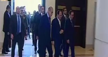 Sisi arrives at inauguration venue of EGYPS 2018 show