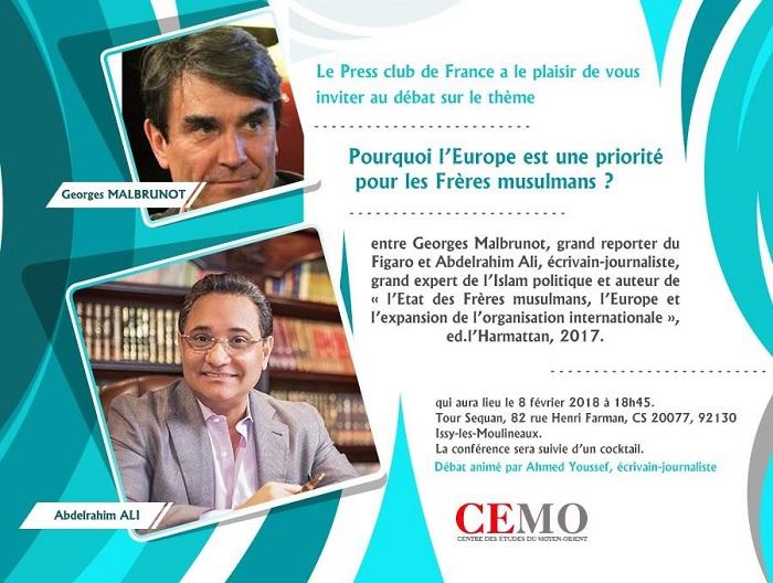 Abdel Rahim Ali at the French Press Club tomorrow