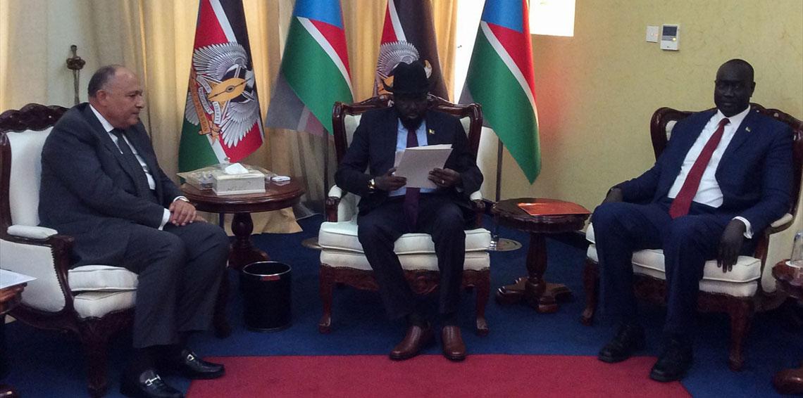 Shoukry hands over message from Sisi to his South Sudanese counterpart