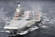 Russia's only aircraft carrier catches fire in northern port