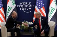 Iraqi president, Trump meet in Davos, discuss foreign troops cut
