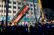 Six dead after huge sinkhole in China swallows bus and pedestrians
