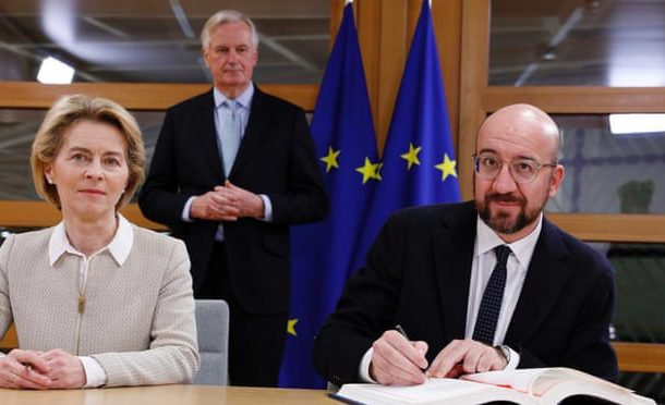 Sombre EU leaders sign Brexit withdrawal agreement
