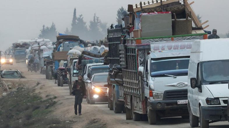 Civilians flee homes, safe zone shrinks as Syrian regime bombards Idlib