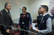 Civil aviation min. checks on medical team's measures of the Quarantine at Cairo International Airport