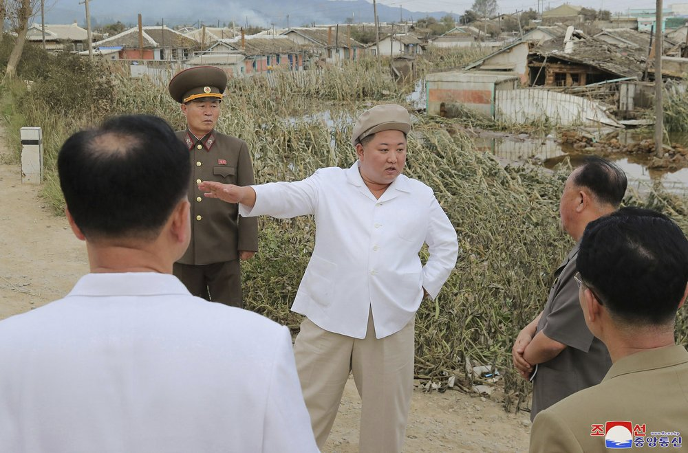 North Korea's Kim urges quick recovery from typhoon damage