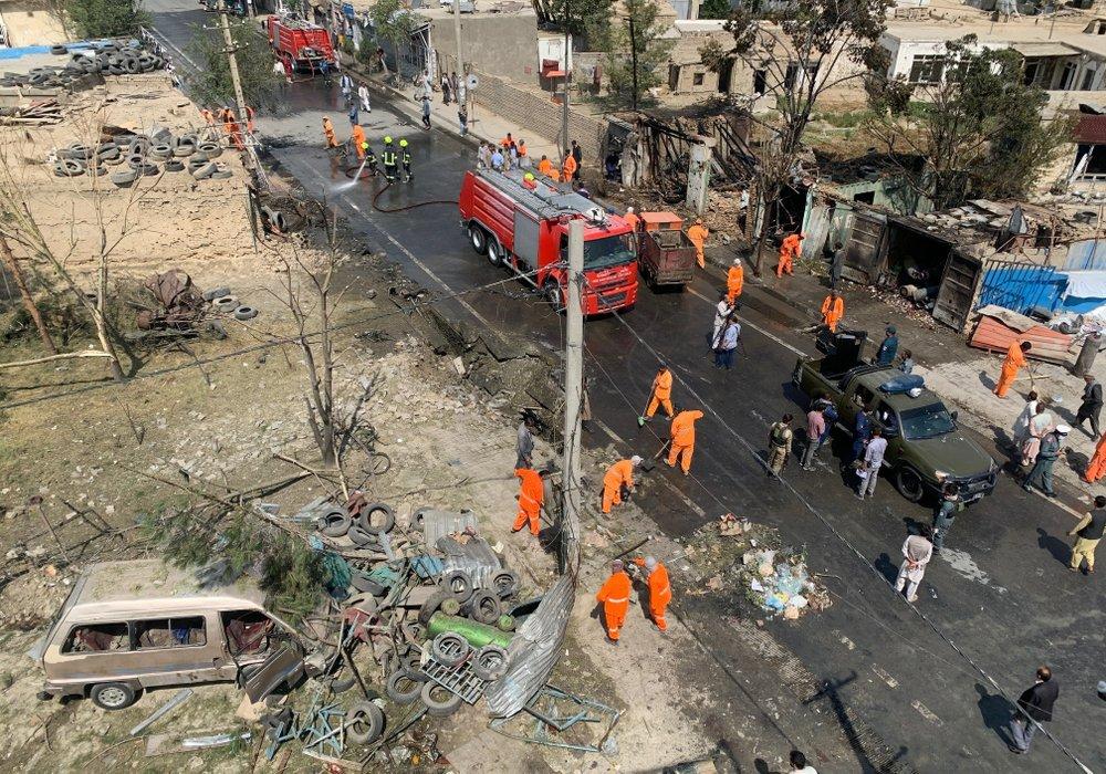 Afghan officials: Kabul bomb targets VP, kills 10 civilians