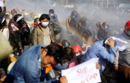 Police fire shots and disperse Myanmar protesters in Yangon