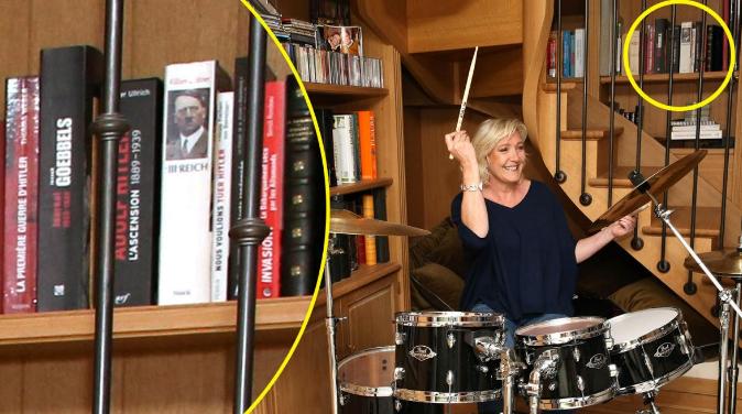 Marine Le Pen's PR stunt sullied by books about Nazis