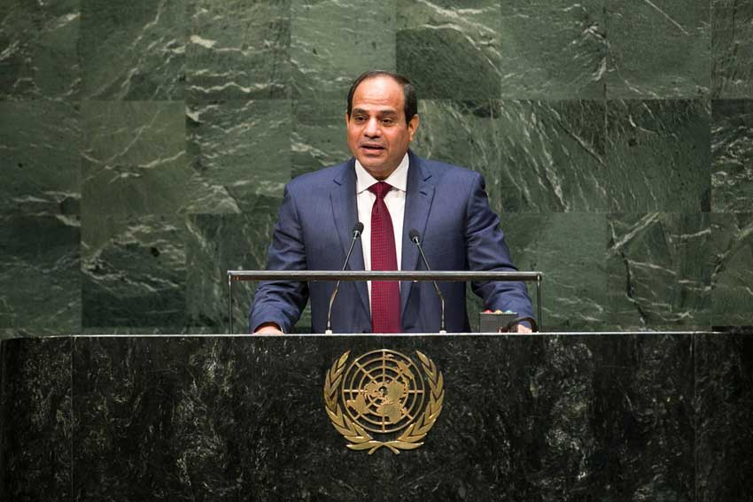 Combating Terrorism- Priority on the agenda of Al-Sisi's visit to UN