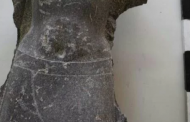 Two statues of King Psamtik I unearthed in Tell el-Farain