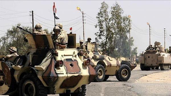 Egyptian forces kills 12 militants in Sinai