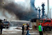 Fire hits refinery facility in war-torn Syria
